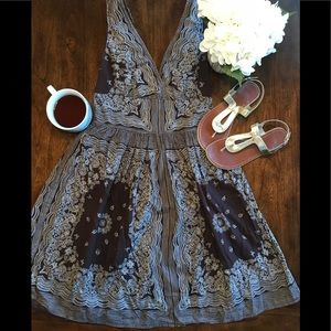 Brown Paisley Print Spring Dress 👗